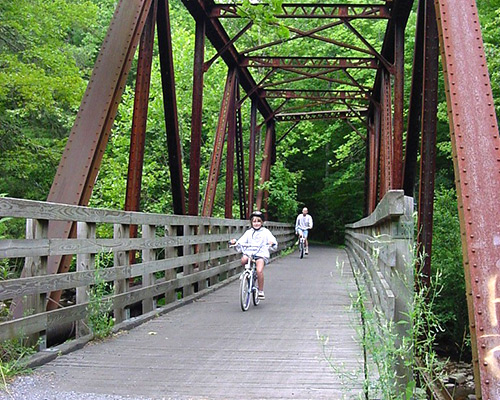 Kids Riding the Virginia Creeper Trail